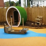 Needle Punch Children's Play Surfacing in Aberffrwd 9