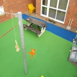Rubber Wetpour Surfaces in Aby 7