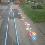 Playground Flooring Experts in Alminstone Cross 9