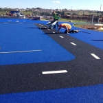 Resin Bonded Rubber Mulch in Carrickfergus 1