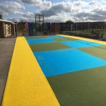 Rubber Wetpour Surfaces in Aby 6