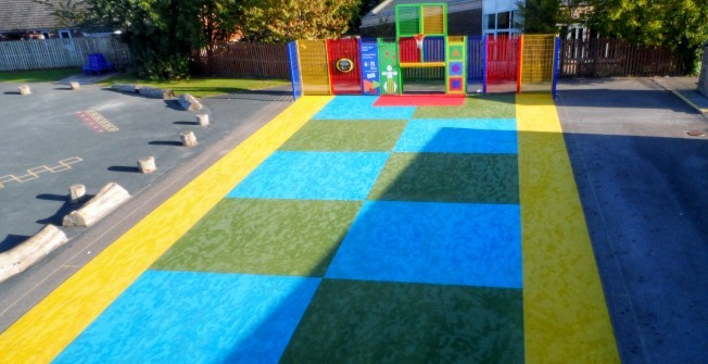 Playground Safety Surfacing in Pen-y-bank