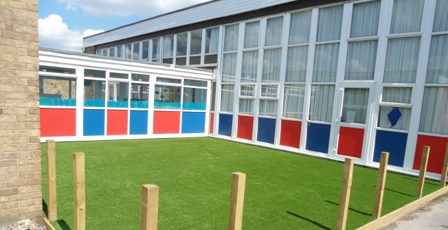 Artificial Grass Play Surfacing in West Aberthaw