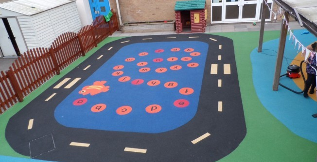 Playground Surface Installers in Warwickshire