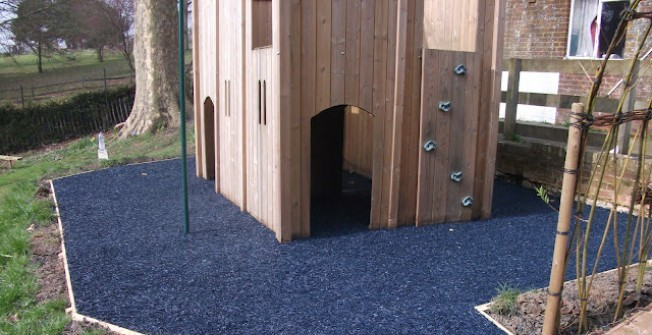 Recycled Mulch for Playgrounds in Bridgend