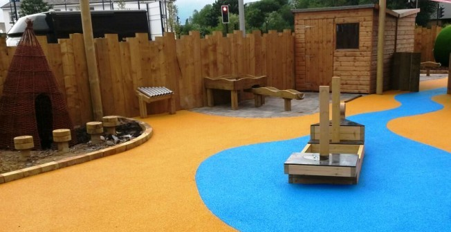 Playground Surfacing Specialists in Abbey Mead